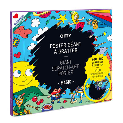 Decoration - Children's Home Accessories - Magic Scratch off poster - / 70 x 100 cm by OMY Design & Play - Magic - Paper