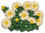 Set de table Florigraphie Marguerite 50 x 35 cm Seletti blanc,jaune,vert en fibre végétale