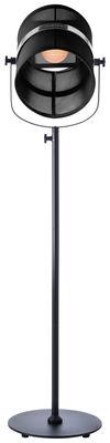 Lighting - Floor lamps - La Lampe Paris LED Solar floorlamp - / Solar by Maiori - Structure : Black - Diffuser : Black - Fabric, Painted aluminium