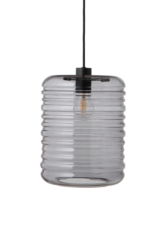 Illuminazione - Lampadari - Sospensione Wheels - / Ø 24 cm di Frandsen - Ø 24 x H 31 cm / Grigio fumé - metallo verniciato, Vetro