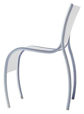 Möbel - Stühle  - FPE Stapelbarer Stuhl - Kartell - Opalfarben - klarlackbeschichtetes Aluminium, Polypropylen