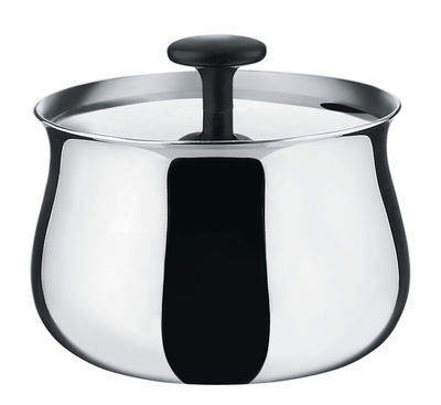 Kitchenware - Sugar Bowls, Milk Pots & Creamers - Cha Sugar bowl by Alessi - Mirror polished steel - Polished mirror stainless steel