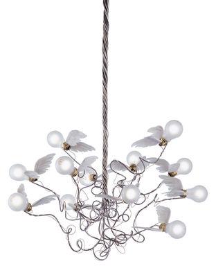 Suspension Birdie - Ingo Maurer blanc en métal
