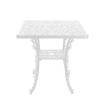 Table carrée Industry Garden / 70 x 70 cm - Métal ajouré - Seletti blanc en métal