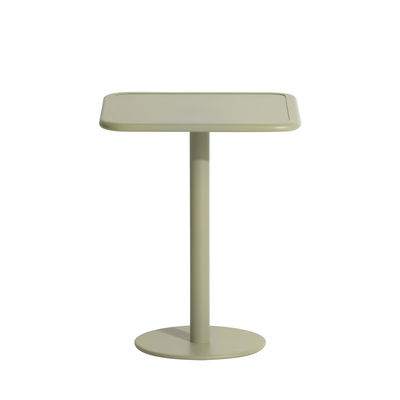 Table carrée Week-End / Bistrot - Aluminium - 60 x 60 cm - Petite Friture vert en métal