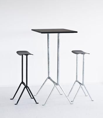 table haute officina bistrot outdoor magis - acier noir / pieds