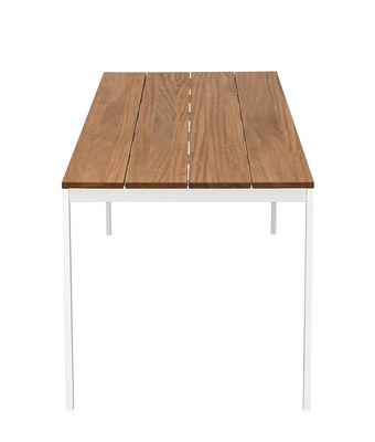 Table rectangulaire be-Easy / Teck - 200 x 79 cm - Kristalia blanc,teck naturel en métal