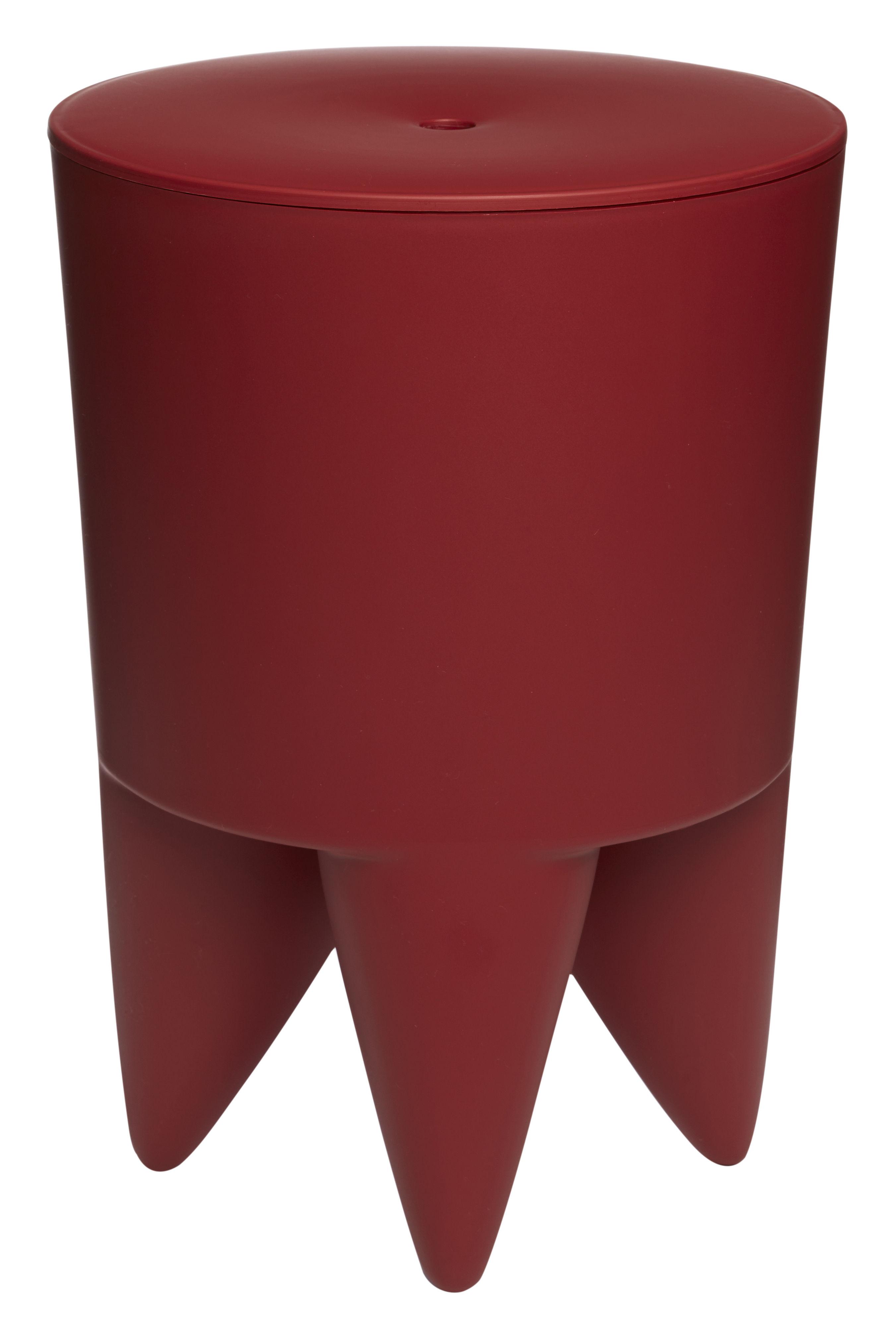 Mobilier - Tabourets bas - Tabouret New Bubu 1er Coffre - Plastique - XO - Marsala - Polypropylène