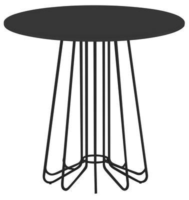 Arredamento - Tavolini  - Tavolino Smallwire di Zanotta - Nero - Acciaio verniciato, Vetro verniciato