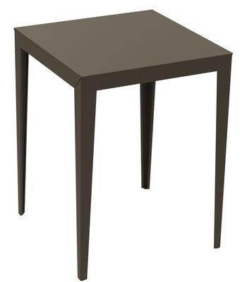Arredamento - Tavoli alti - Tavolo bar alto Zonda - - 80 x 80 x H 105 cm di Matière Grise - 80 x 80 cm - Talpa - Acciaio verniciato epossidico