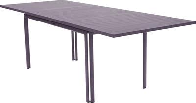 Outdoor - Tavoli  - Tavolo con prolunga Costa - / L 160 a 240 cm - 6 a 10 persone di Fermob - Prugna - Alluminio laccato