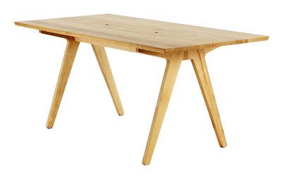Tendenze - A tavola! - Tavolo rettangolare Remix - 8 persone L 180 cm di The Hansen Family - Rovere/ Scomparti Rosso & Blu - Rovere massello