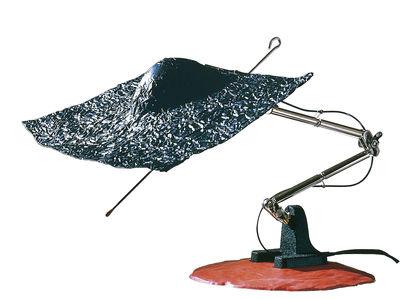 Leuchten - Tischleuchten - Don Quixote Tischleuchte - Ingo Maurer - Schwarz, Stahl und rot - Schnurtrafo mit Schieberegler - Aluminium, Stahl