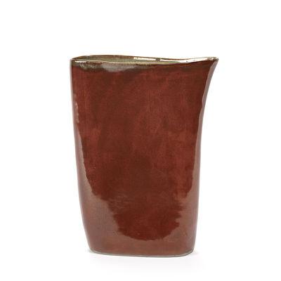 Vase Anita Haut / H 33 cm - Fait main - Serax marron en céramique