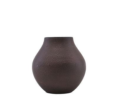 Vase Kojo / Ø 6 x H 12 cm - Acier - House Doctor bourgogne en métal