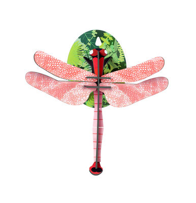 Decoration - Children's Home Accessories - Libellule rose Wall decoration - / Cardboard - L 17 x H 19 cm by studio ROOF - Pink dragonfly - Carton recyclé