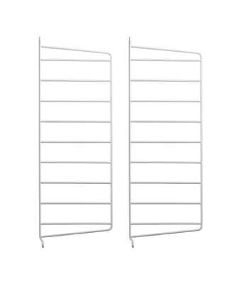 Furniture - Bookcases & Bookshelves - String® system Wall mount - / H 50 x D 20 cm - Set of 2 by String Furniture - White - Lacquered metal