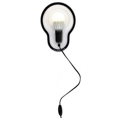 Image of Applique Sticky Lamps - adesiva di droog - Nero/Trasparente - Materiale plastico