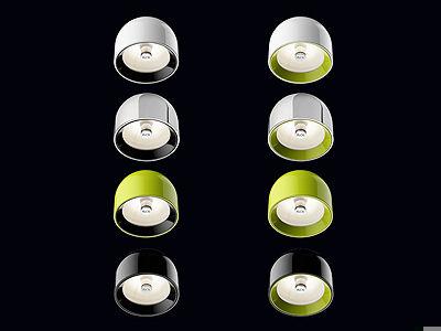 Plafoniera Flos : Plafoniera moderna tonda in vetro ghisa di alluminio