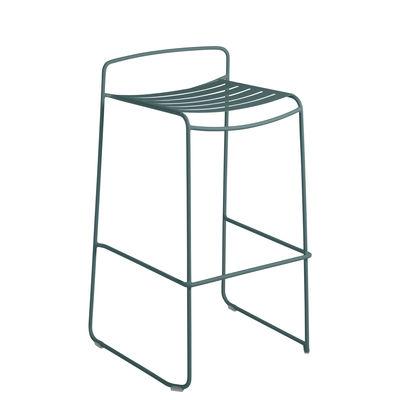 Möbel - Barhocker - Surprising Barhocker / Metall - H 78 cm - Fermob - Gewittergrau - bemalter Stahl