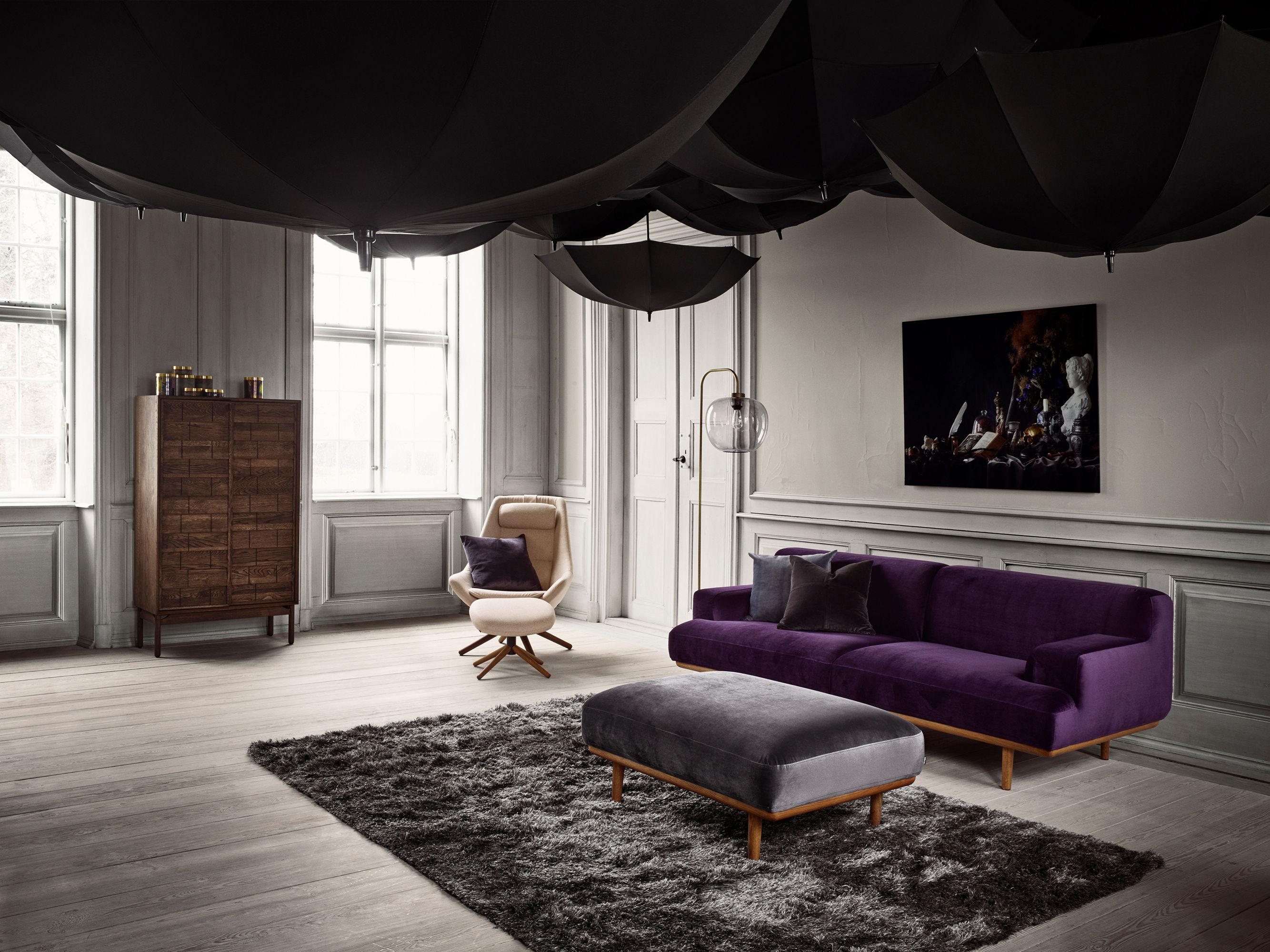 canap droit madison tissu 2 places l 204 cm tissu gris ch ne bolia made in design. Black Bedroom Furniture Sets. Home Design Ideas