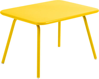 Furniture - Kids Furniture - Luxembourg Kid Children table by Fermob - Honey - Lacquered aluminium