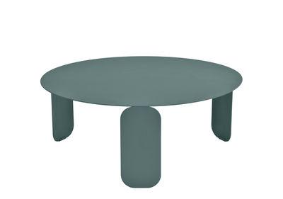 Furniture - Coffee Tables - Bebop Coffee table - / Ø 80 cm by Fermob - Storm grey - Aluminium, Steel