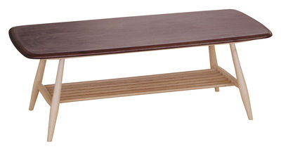 Furniture - Coffee Tables - Originals Coffee table by Ercol - Beech / Walnut top - Natural beechwood, Solid walnut