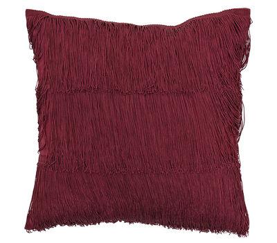 Déco - Coussins - Coussin / 40 x 40 cm - Franges - Bloomingville - Rouge - Coton