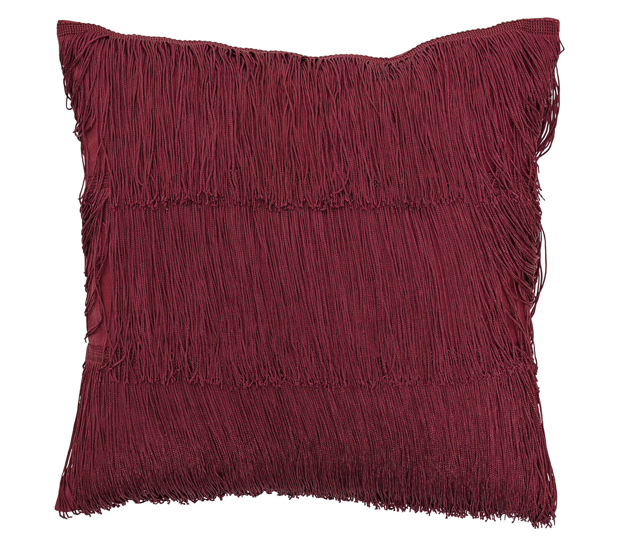 Decoration - Cushions & Poufs - Cushion - / 40 x 40 cm - Fringes by Bloomingville - Red - Cotton