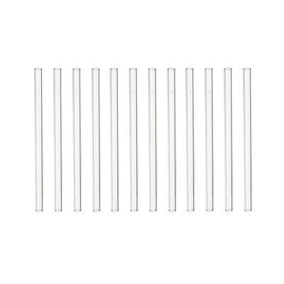 Tableware - Wine Accessories - glass straw - reusable / Set of 12 by Leonardo - Transparent - Glass