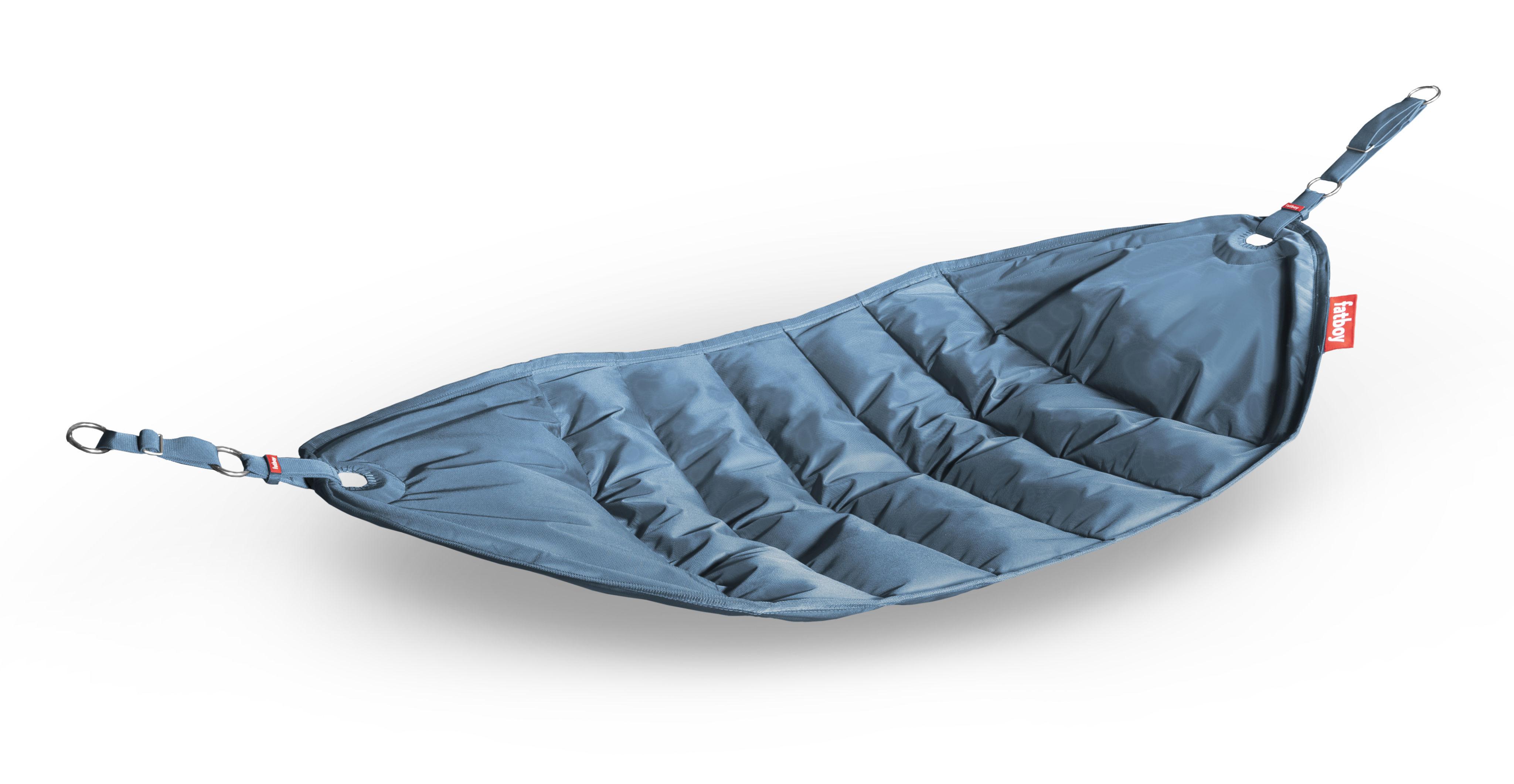 Outdoor - Chaises longues et hamacs - Hamac Headdepleck / à suspendre - Fatboy - Bleu pétrole - Fibre de polyester, Tissu d'extérieur polyester