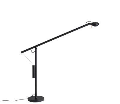 Illuminazione - Lampade da tavolo - Lampada da tavolo Fifty-Fifty - / Orientabile - H 60 cm di Hay - Nero - Acciaio laccato epossidico, Alluminio, Espanso, Ghisa, Silicone