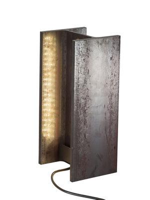 Illuminazione - Illuminazione da esterni - Lampada Mais plus que cela je ne peux pas - / LED OUTDOOR - H 35 cm di Nemo - Rouille - Fer brut