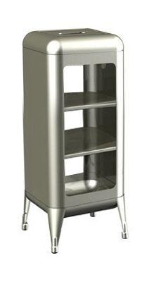 Arredamento - Scaffali e librerie - Mobile contenitore - acciao grezzo verniciato - H 75 cm di Tolix - Grezzo verniciato brillante - Acciaio grezzo verniciato lucido