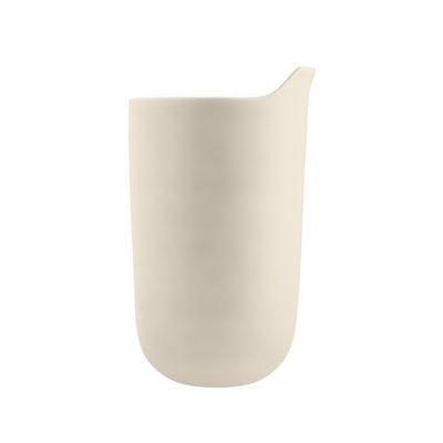Arts de la table - Tasses et mugs - Mug isotherme / Avec couvercle - Céramique / 28 cl - Eva Solo - Sable - Céramique, Plastique, Silicone