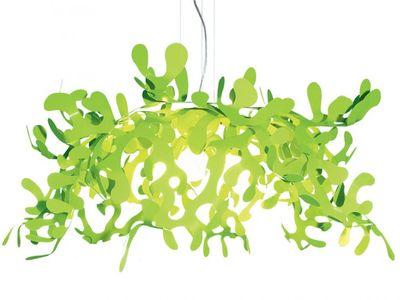 Leuchten - Pendelleuchten - Superleaves Pendelleuchte Ø 105 cm - Lumen Center Italia - Grün - lackiertes Metall