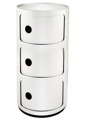 Mobilier - Mobilier Ados - Rangement Componibili / 3 tiroirs - H 58 cm - Kartell - Blanc brillant - ABS