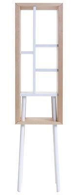 Rangement Obi / Grand modèle - H 120 cm - Compartimenté - Valsecchi 1918 blanc,bois naturel en bois