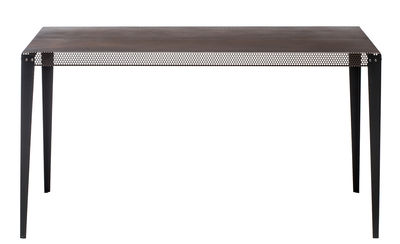 Furniture - Dining Tables - Nizza Rectangular table - 140 x 90 cm by Diesel with Moroso - Copper / Black leg - Varnished steel