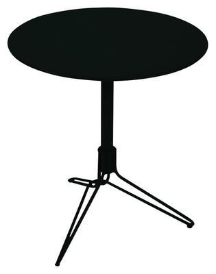 Outdoor - Garden Tables - Flower Round table by Fermob - Liquorice - Steel