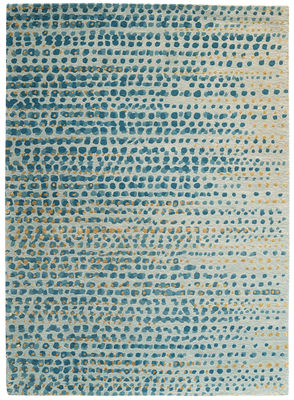 Decoration - Rugs - Brume Rug - 170 x 240 cm by Toulemonde Bochart - Blue grey - Vegetal silk, Wool