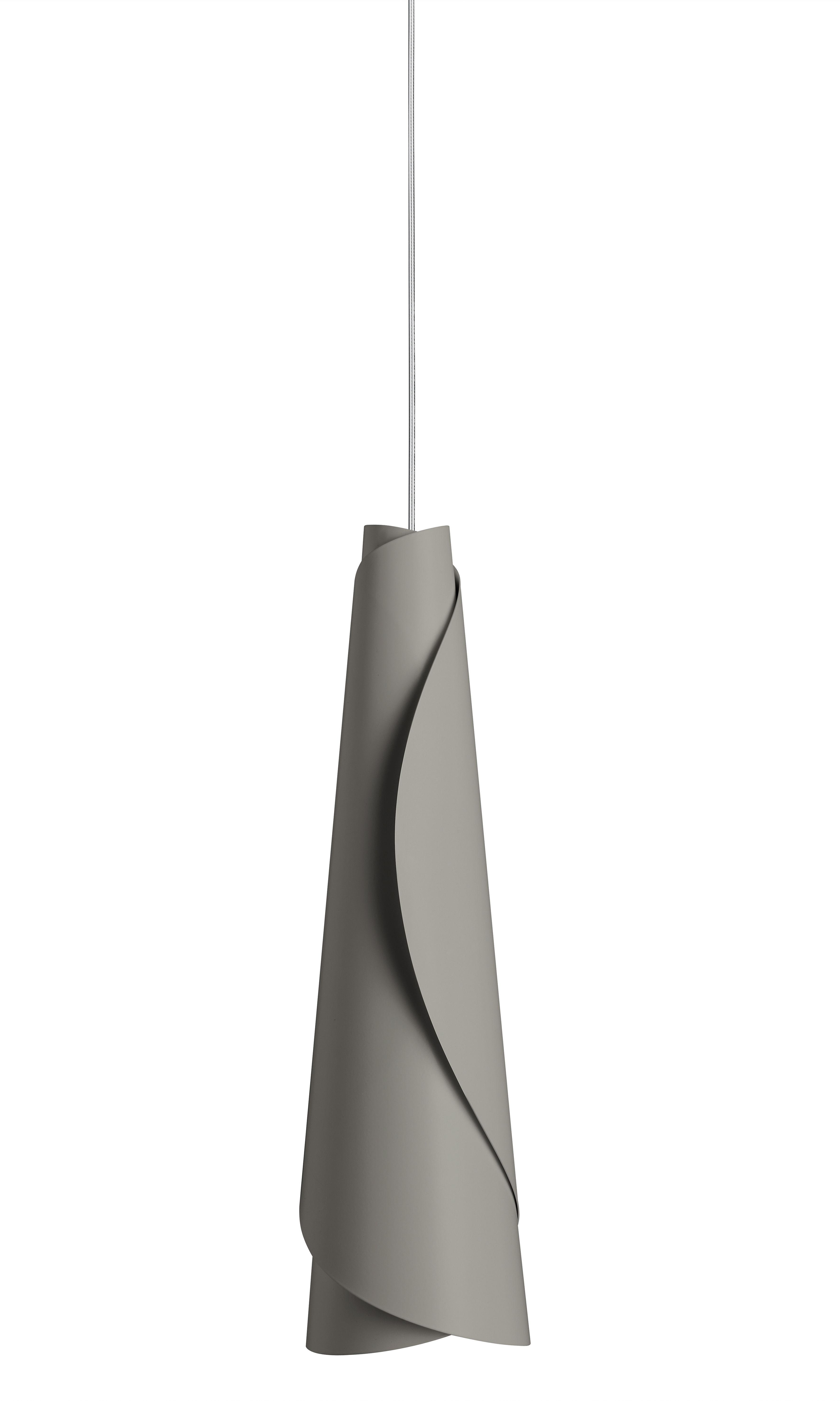 Illuminazione - Lampadari - Sospensione Maki di Foscarini - Grigio - Alluminio laccato
