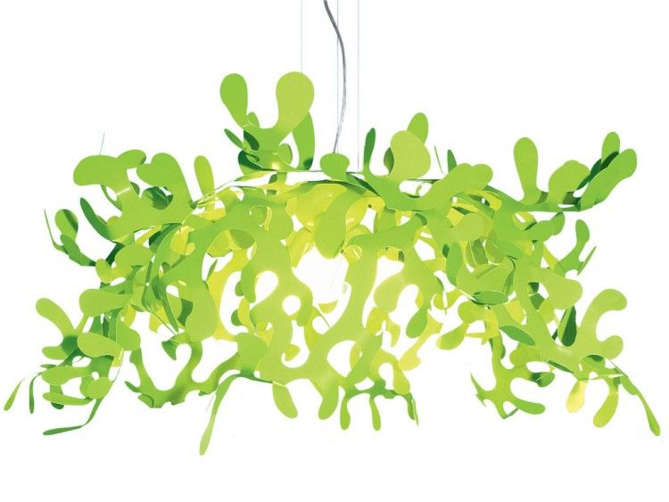 Illuminazione - Lampadari - Sospensione Superleaves - Ø 105 cm di Lumen Center Italia - Verde - metallo laccato