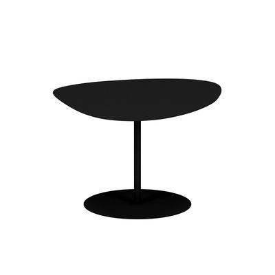 Table basse Galet n°2 OUTDOOR / 58 x 75 x H 39 cm - Matière Grise noir en métal