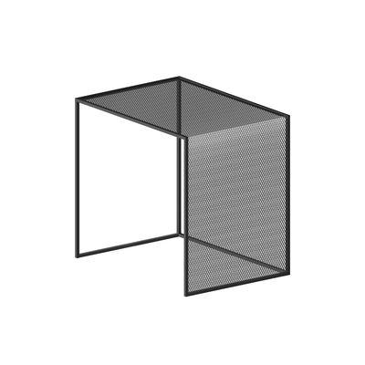 Table basse Tristano / 50 x 40 cm x H 50 cm - Résille d'acier - Zeus gris en métal