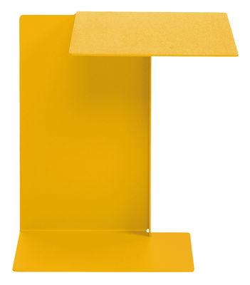 Table d'appoint Diana B Plateau à droite ClassiCon jaune miel en métal