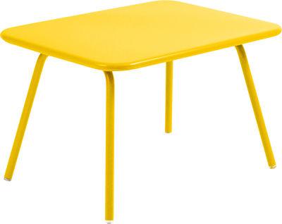 Mobilier - Mobilier Kids - Table enfant Luxembourg Kid / 75 x 55 cm - Aluminium - Fermob - Miel - Aluminium laqué