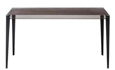 Mobilier - Tables - Table rectangulaire Nizza / 140 x 90 cm - Diesel with Moroso - Cuivre / Pieds noirs - Acier verni