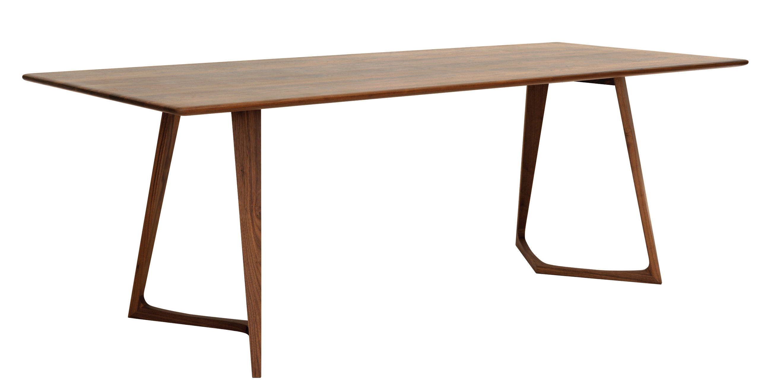 Mobilier - Tables - Table rectangulaire Twist / 200 x 90 cm - Zeitraum - 200 x 90 cm - Noyer - Noyer massif